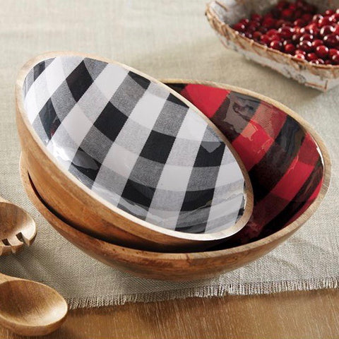 Buffalo Checked Serving Bowls