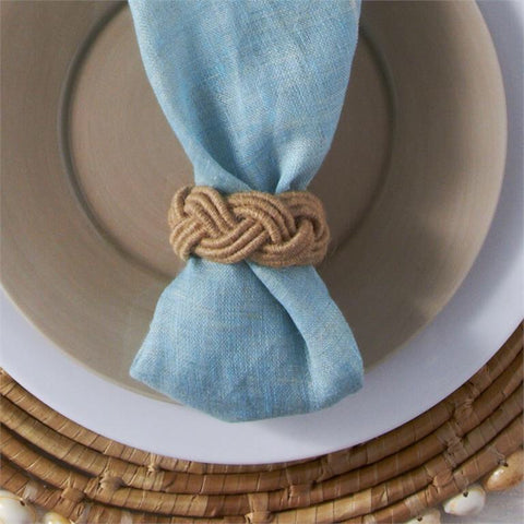Braided Jute Napkin Rings from One Cottage Way