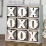 Large Wooden Block Tic Tac Toe Game Decor from One Cottage Way Coastal Farmhouse Decor