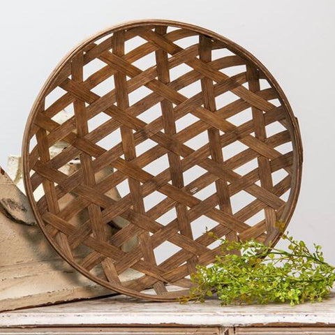 round brown tobacco basket from One Cottage Way