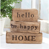 Hello Happy Home Block Set