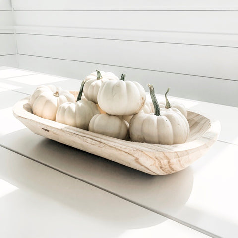 Oblong Wooden Bowls, 3 Sizes