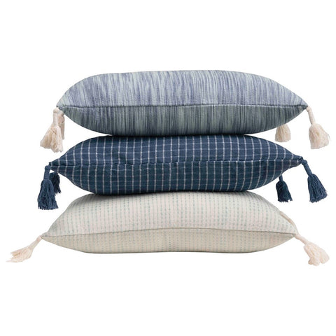 Shades of Blue Lumbar Pillows