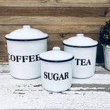 Coffee, Tea and Sugar Canister Set