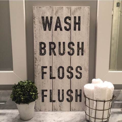 Wash Brush Floss Flush, Large