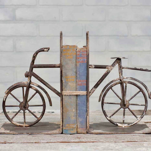 Metal Vintage Style Bicycle Bookends from One Cottage Way Coastal Farmhouse Decor