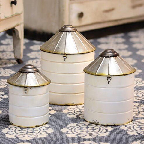 Silo Canister Set of 3 from One Cottage Way
