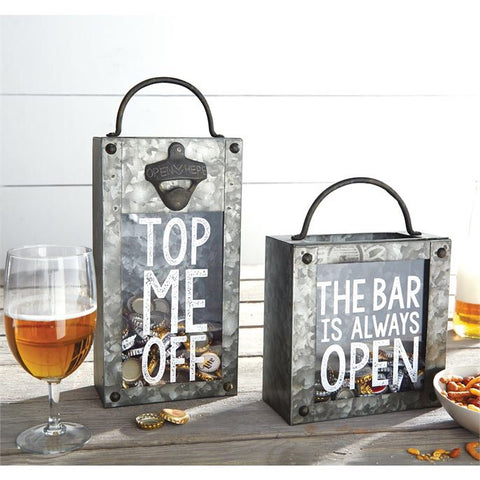 Tin Beer Cap and Wine Cap Boxes