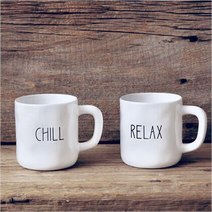 Chill & Relax Mugs, Set of 2
