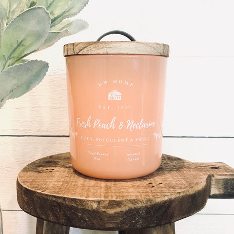 Fresh Peach & Nectarine Farmhouse Candle