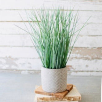Faux Potted Grass