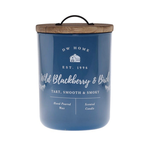 DW Wild Blackberry and Birch Blue Double Wick Farmhouse Candle from One Cottage Way Home Goods and Gifts