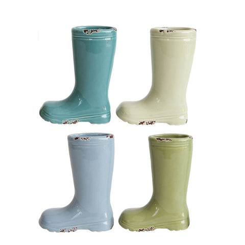 Mini Rain Boot Vases, Set of 4