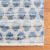 5 x 8 Denim Honeycomb Rug