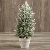 Flocked Potted Pine Tree, 3 Sizes