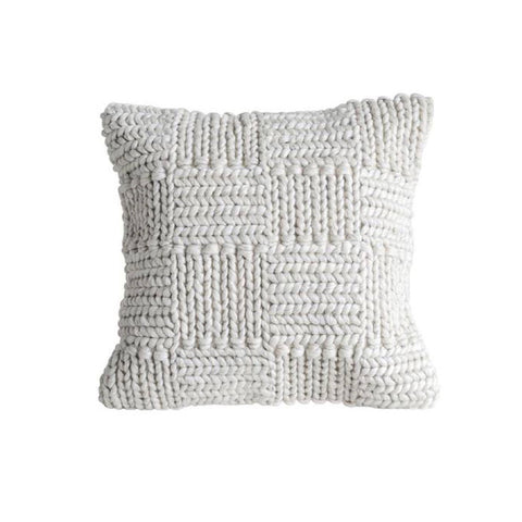Ivory Chunky Cable Knit Wool Pillow from One Cottage Way Coastal Farmhouse Decor