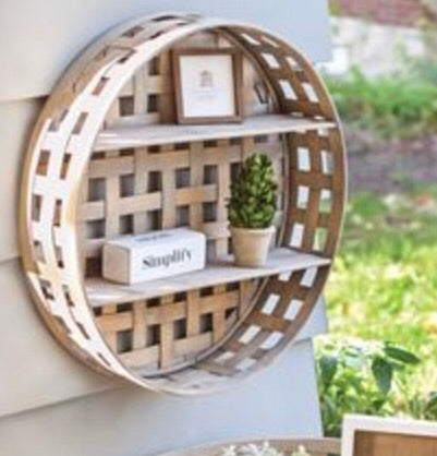 Tobacco Basket Wall Shelf