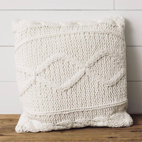 Cozy Cable Knit Pillow