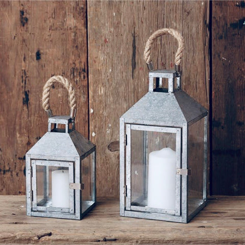 Galvanized Farmhouse Lanterns