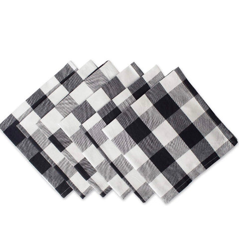 black and white buffalo checked cloth napkins