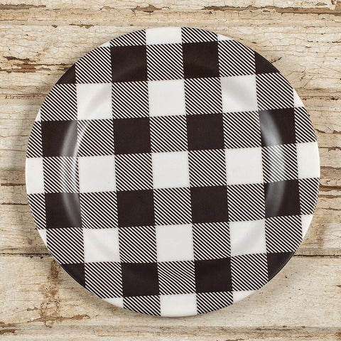 Buffalo Checked Melamine Plates