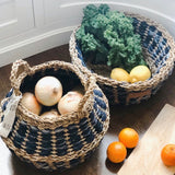 Foldable Denim Baskets, Set of 2
