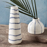Mud Pie Blue and White Striped Bud Vases from One Cottage Way