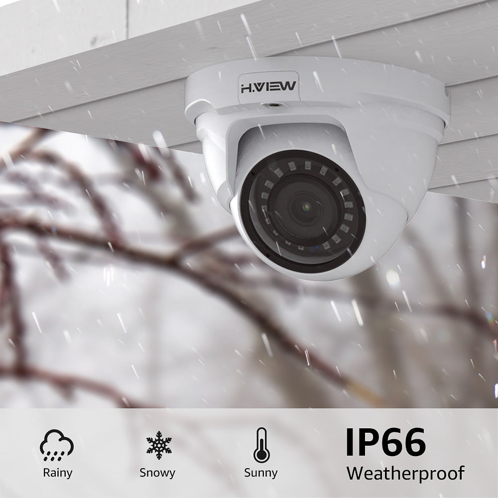 4MP PoE IP Dome Security Camera Outdoor with Audio, Microphone, Hikvision Compatible - Home Security Camera