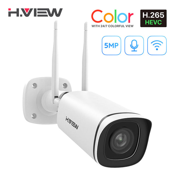 5MP Full Time Color Outdoor Wireless IP Camera, Super HD Colorful Night Vision,with Audio 2.4/5 GHz WiFi - Home Security Camera