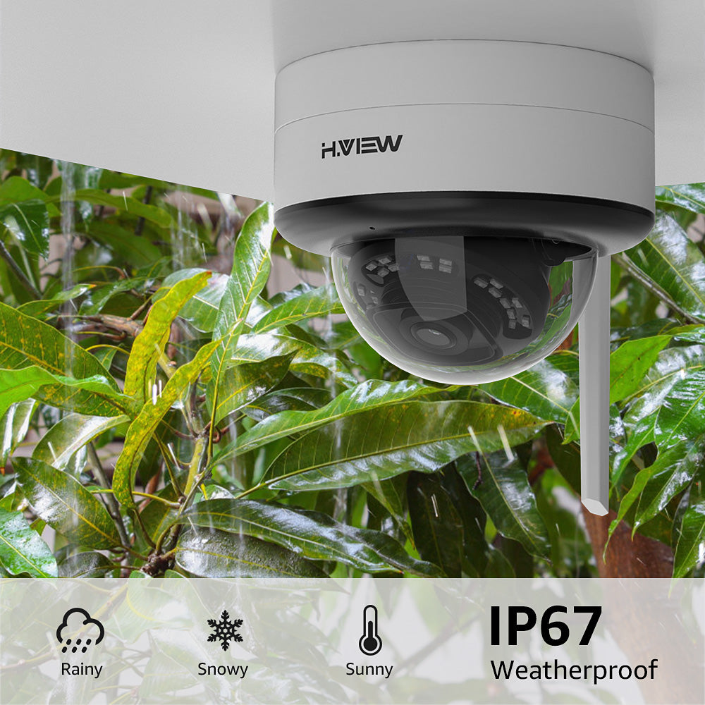 5MP Outdoor Wirelss Security IP Camera Super HD Night Vision with Audio, SD Card Slot, 2.4/5 GHz WiFi - Home Security Camera