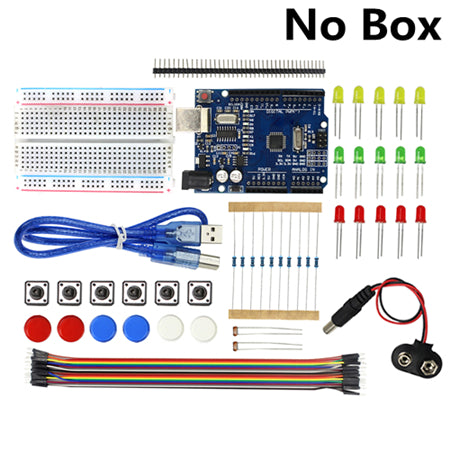 Electronic Starter Kit Mini Breadboard LED Jumper for Arduino UNO R3 With Box