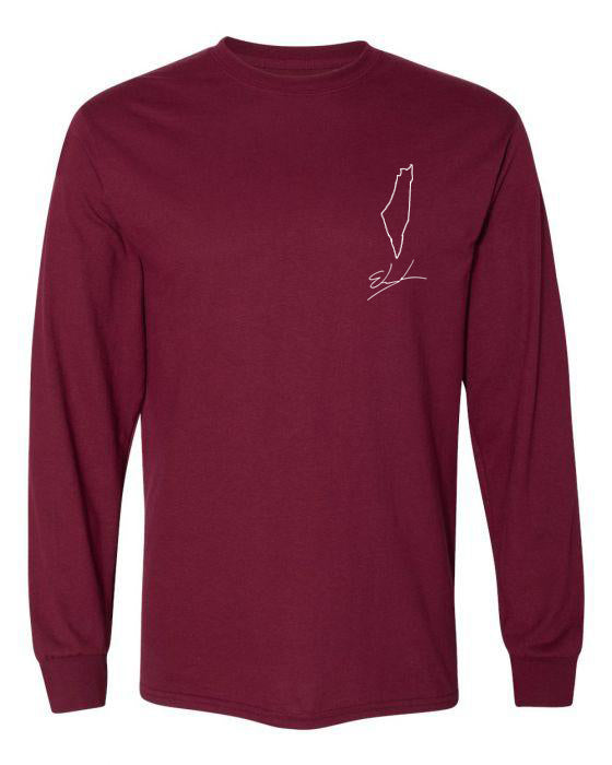 "Custom Long Sleeve T-shirt ""Country Outline"""