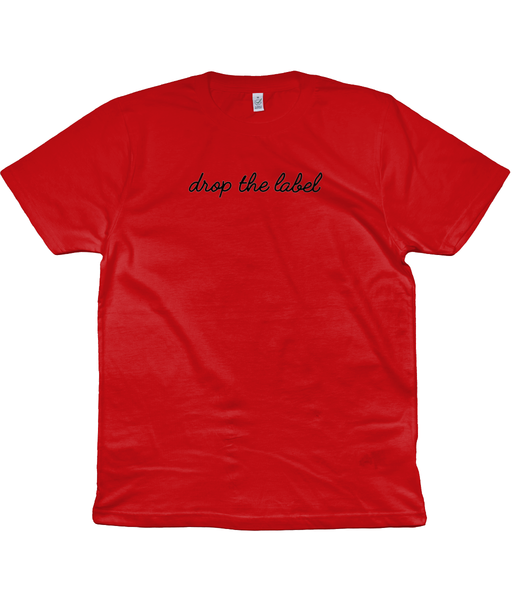drop the label red tee