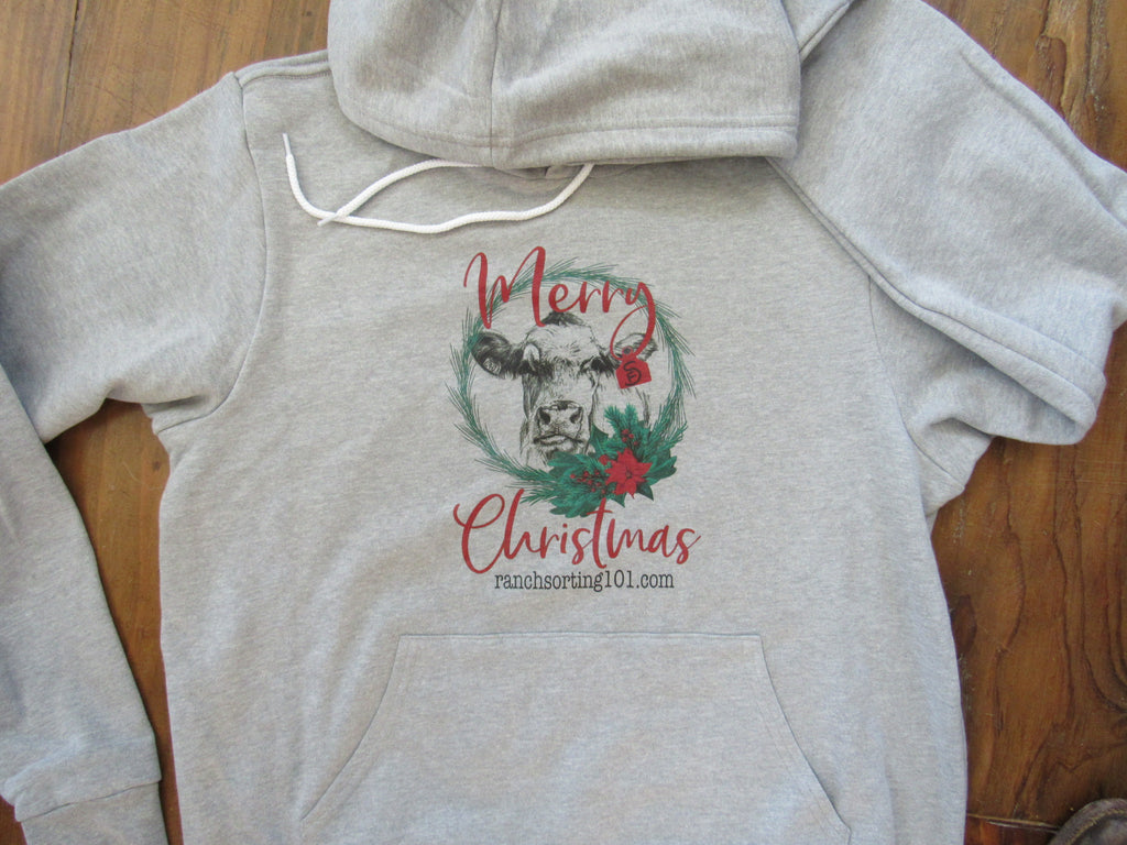 Christmas Cow Custom Farm Hoodie