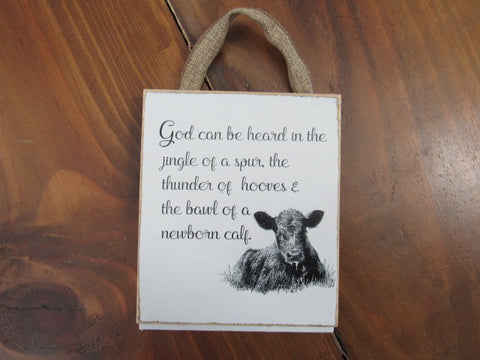 #2823 God be heard sign 6x8 shiplap