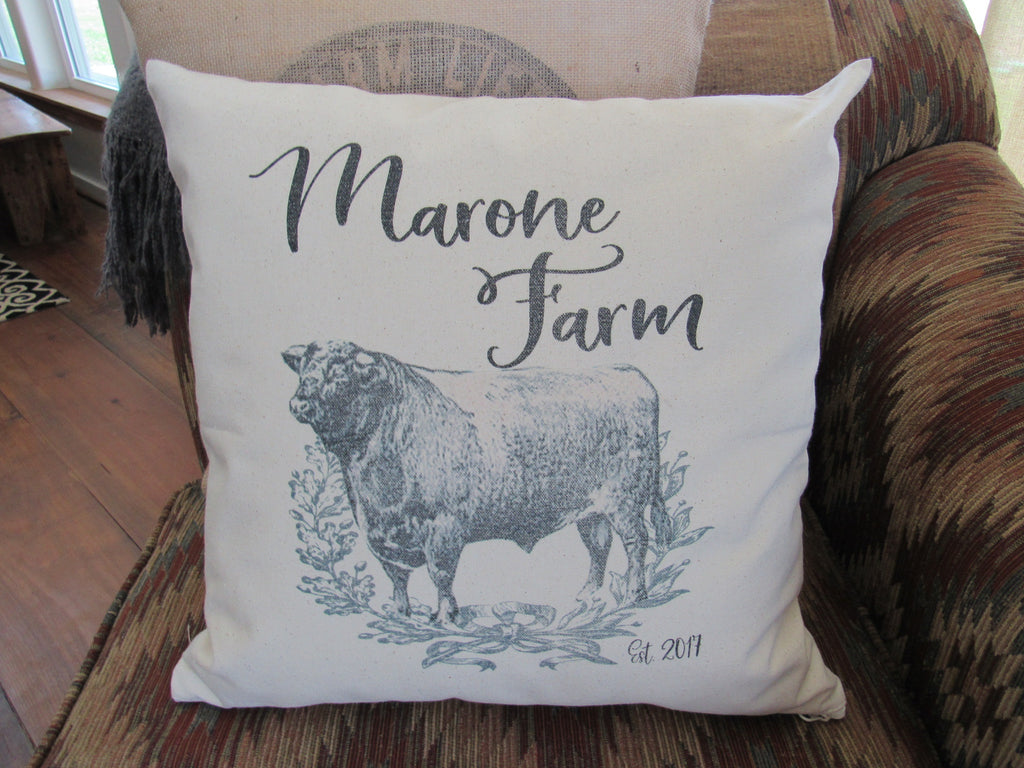 #5011 Custom Farm Canvas Pillow Cover