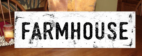 Farmhouse Large chippy weathered paint sign 11X39 solid wood