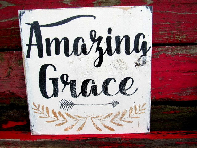 #1611 Amazing Grace Wood