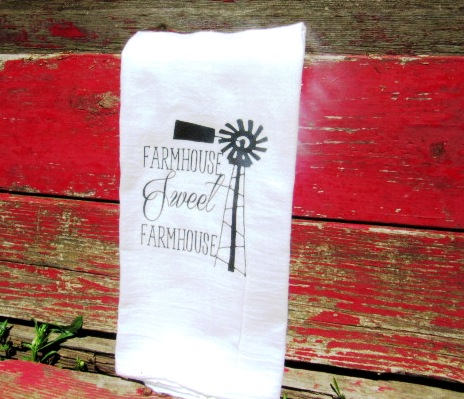 #fs155 Farmhouse Sweet Farmhouse Tea Towel