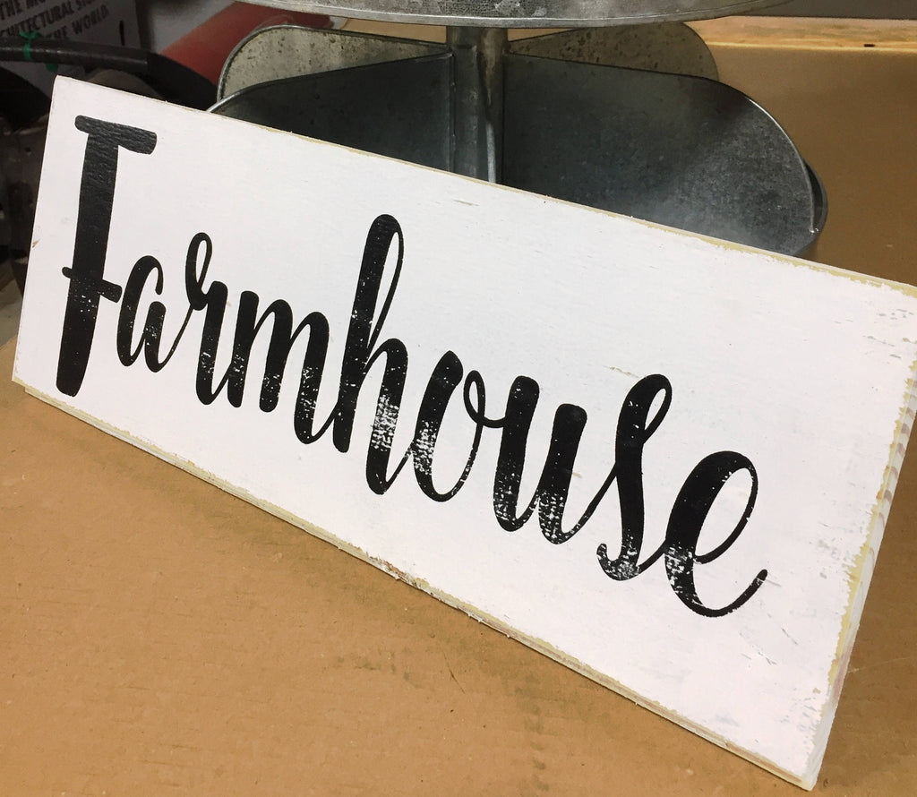 #2307 Farmhouse Sign 8x18x3/4""