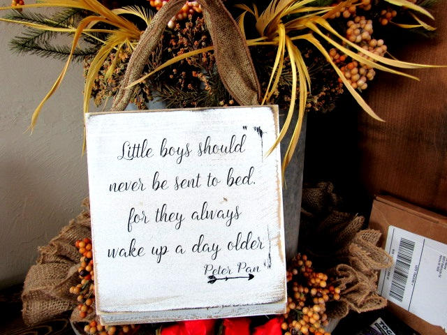2806 Little boys should never be sent to bed shiplap 6x8""