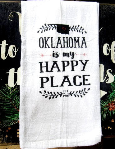#fs172 Oklahoma is my happy place Tea towels