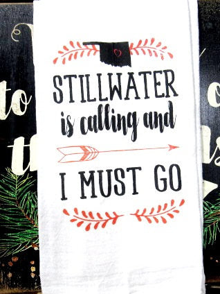 #FS171 Stillwater is calling and I must go Tea towels