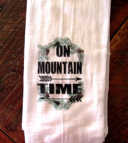FS175 On mountain time dish towels