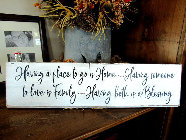 515 Having a place to go is home large wood sign shiplap 8x29""