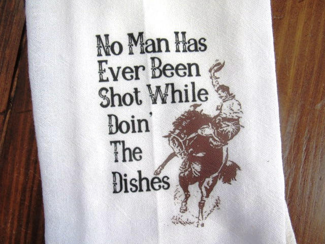 #fs182 No man has ever been while doin shot dishes TEA Towel