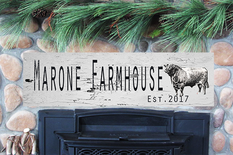 Custom Farmhouse Sign Large Wood Sign 12x44