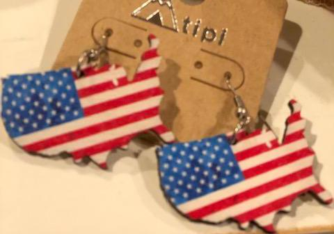 United States Flag Earrings