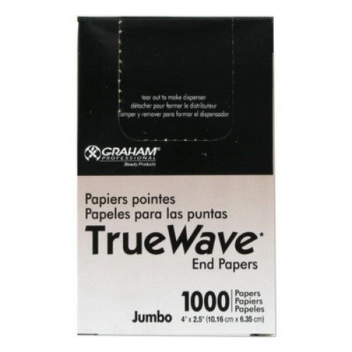 Graham Beauty TRUE WAVE End Papers (Jumbo) 2-1/2 X 4""