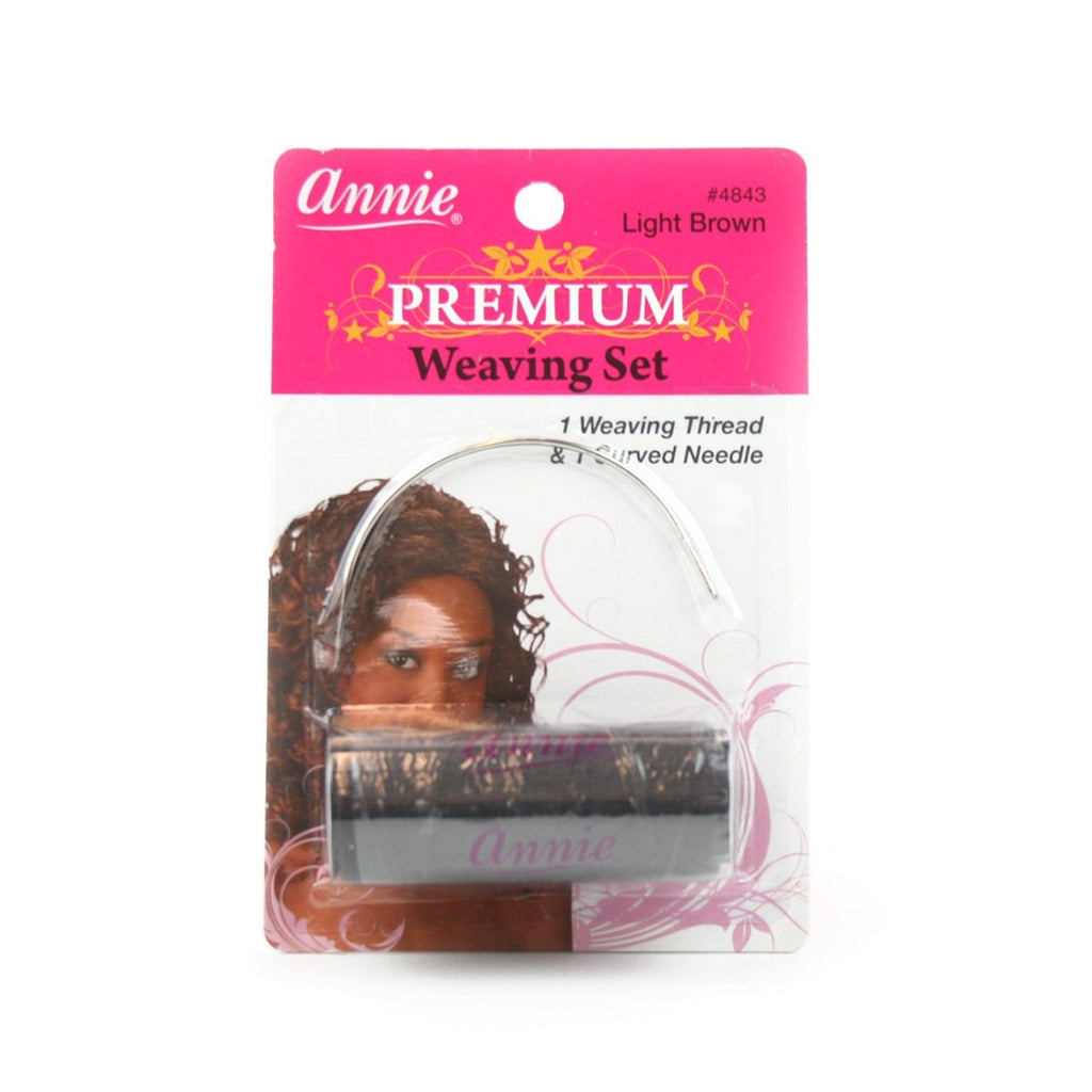 Annie Weaving Needle C And Thread - Dark Brown